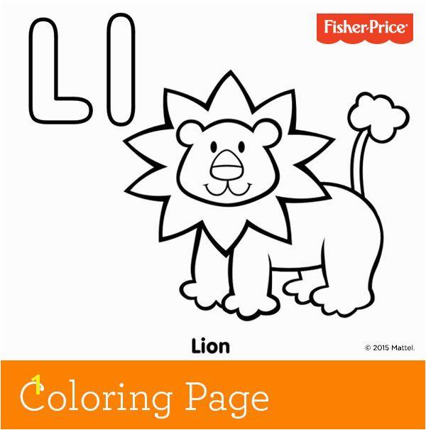 L is for lion Have fun roaring like a lion with your child and talking about the king of the jungle while coloring in a beautiful golden coat on our