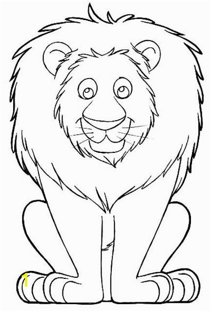 Lion Coloring Pages Cute