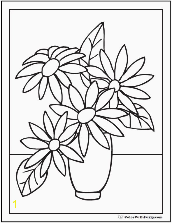 Rose Flower Coloring Pages New Vases Flower Related Post