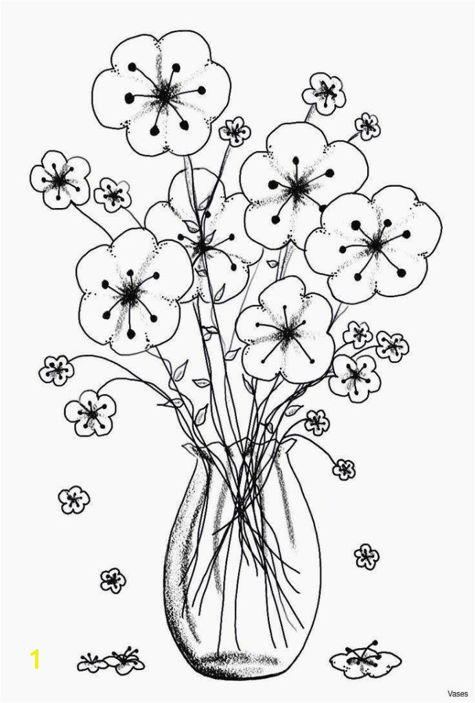 Rose Flower Coloring Pages Rose Flower Coloring Pages New Vases Flower Vase Coloring Page Pages