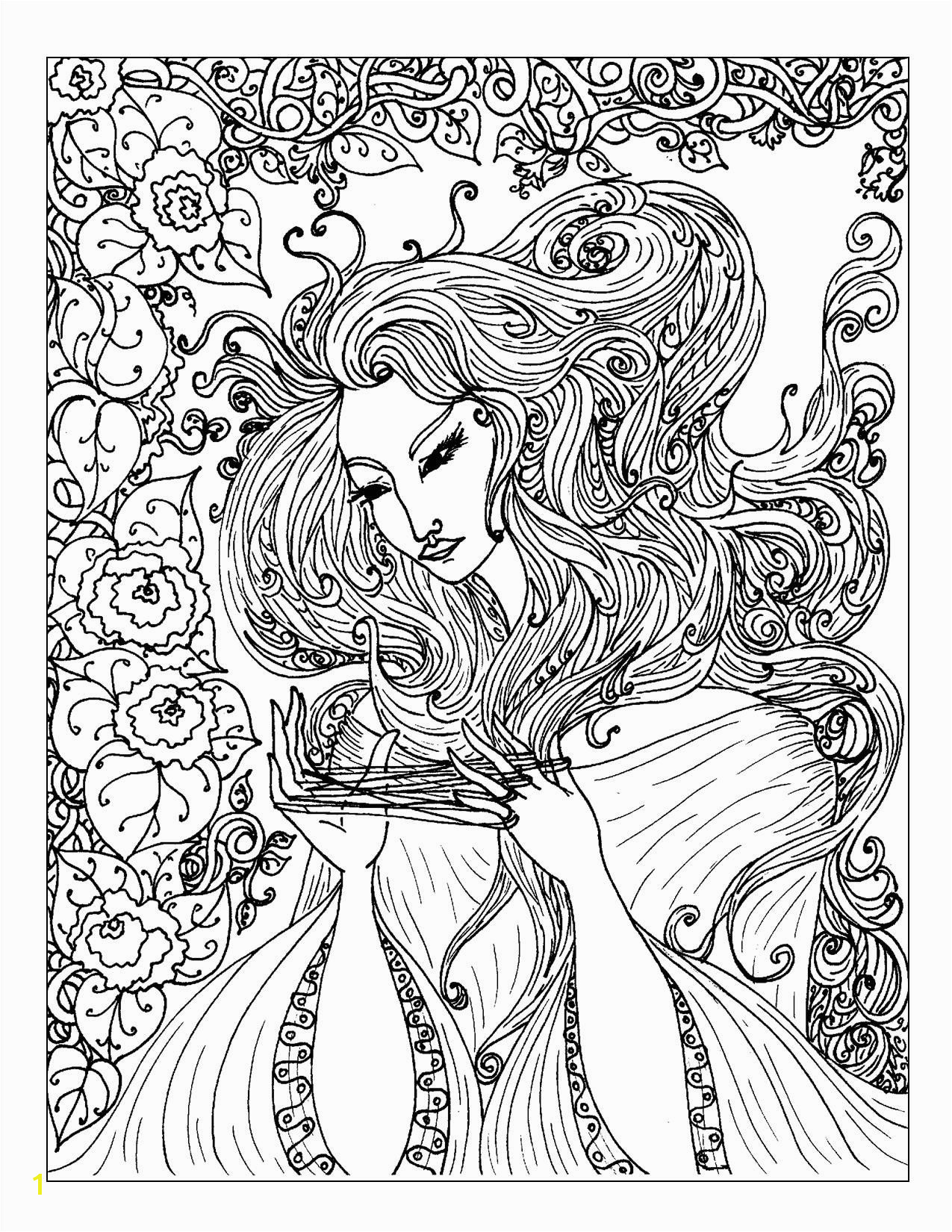 Coloring Pages Hearts for Teenagers Difficult Art Nouveau Coloring Pages S Mac S Place