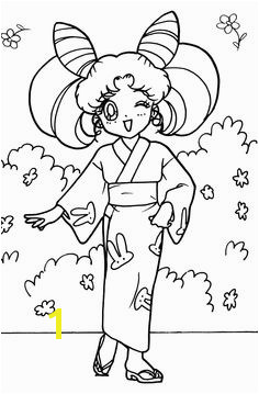 New Year Anime Sailor Moon Chibi Coloring Pages Beautiful Women Colouring