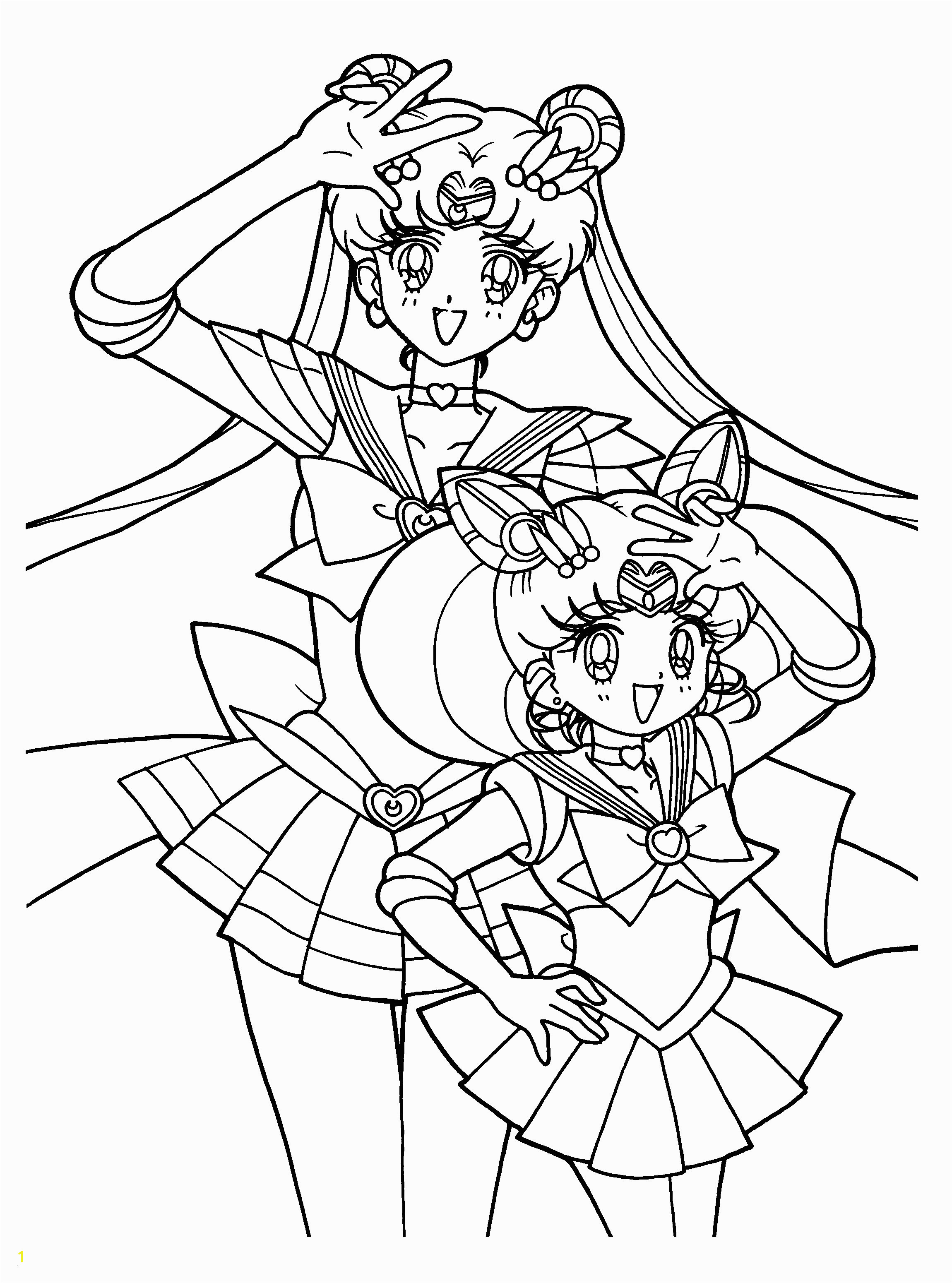 Sailor Mini Moon Coloring Pages Sailor Moon Coloring Pages Great Sailor Moon Coloring Pages