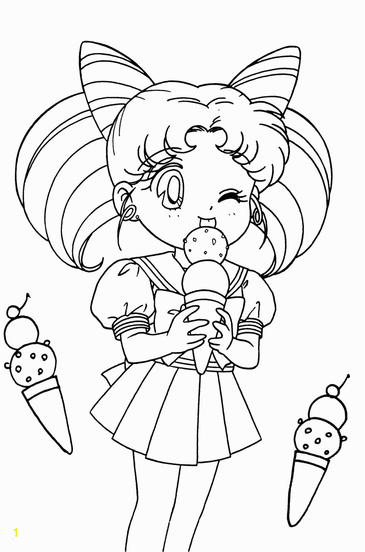 Sailor Mini Moon Coloring Pages Unique Sailor Moon Coloring Pages Letramac