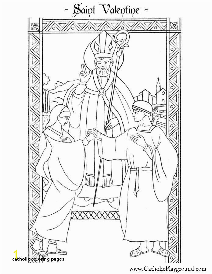 Catholic Coloring Pages Saint Valentine Coloring Page Catholic