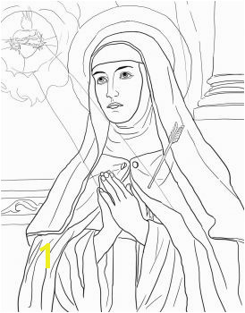 St Teresa of Avila Catholic Coloring Page