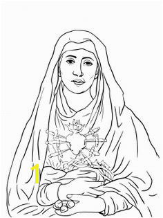 Seven Sorrows of Mary coloring page