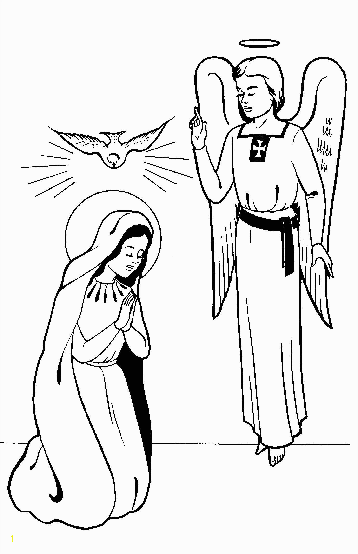 Mary Coloring Pages Printable