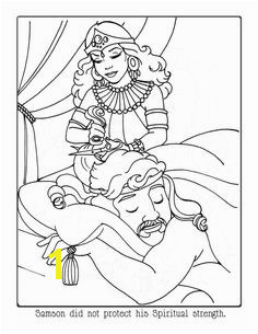 Delilah Cutting Samson s Hair coloring page from Samson category Select from printable crafts of cartoons nature animals Bible and many more