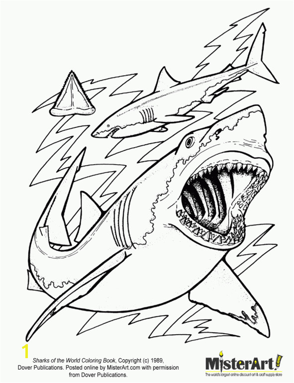 Sharks Coloring Page