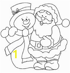 Christmas Santa and snowman coloring page Snowman Coloring Pages Christmas Coloring Pages Coloring Books