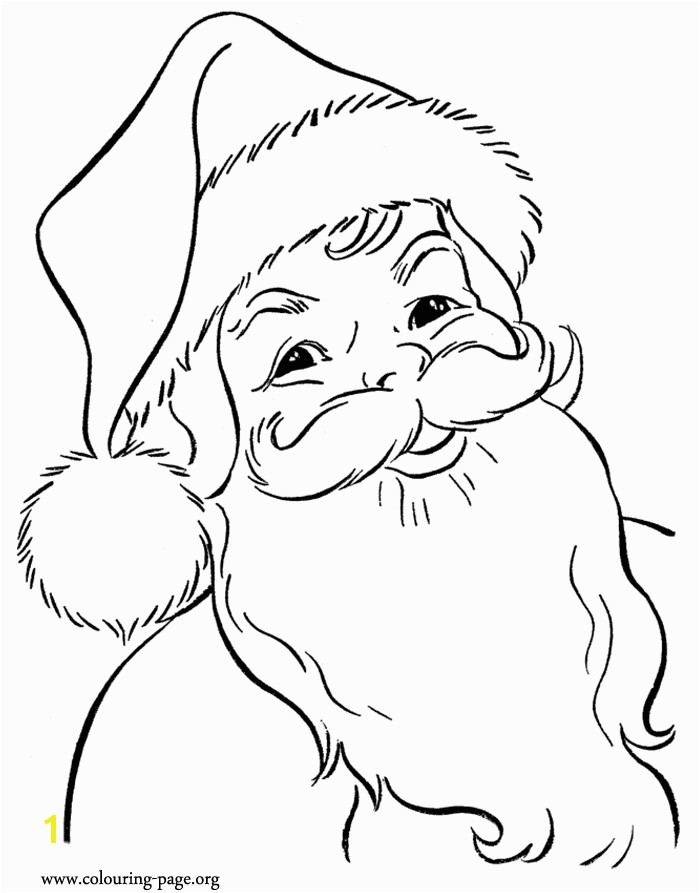 Here you find another beautiful printable coloring page of a happy Santa Claus waiting for the Christmas night Enjoy