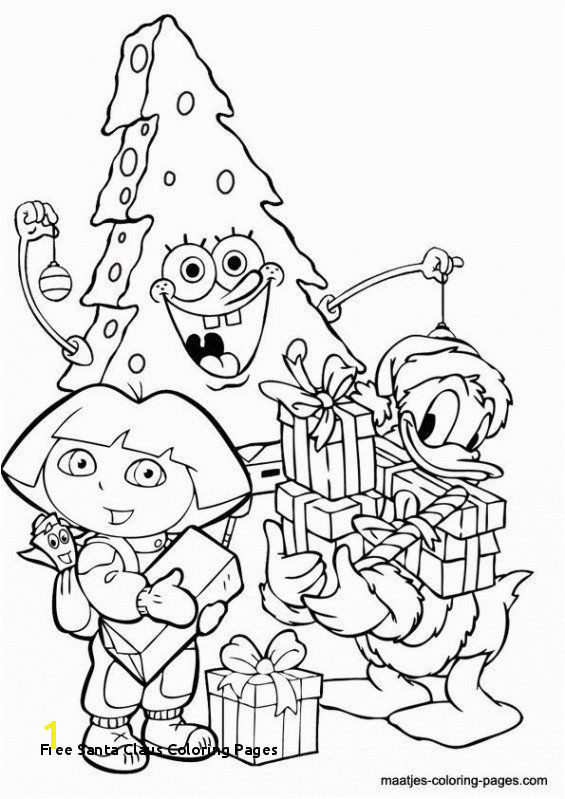 Santa Claus Free Coloring Pages Santa Coloring Pages Printable Free Unique Free Santa Claus Coloring