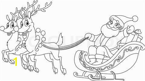 Santa Claus In Sleigh Coloring Page Santa and His Sleigh Coloring Pages