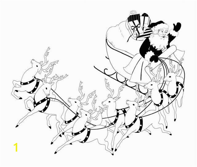 Santa s Sleigh coloring pages