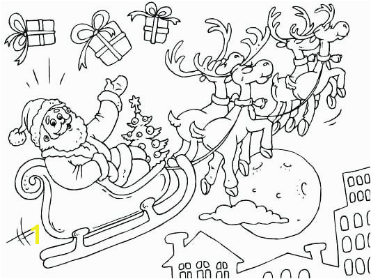 sleigh coloring page and his sleigh coloring page and reindeer coloring pages collection santa claus sleigh