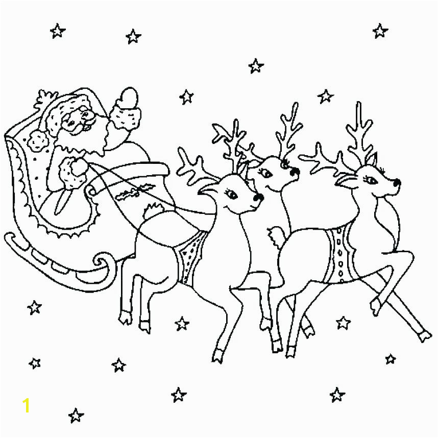 santa sleigh coloring page sleigh coloring page sleigh coloring pages inside page santa and reindeer coloring