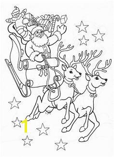 Santa and his sleigh Crystal Sheppard · coloring sheets