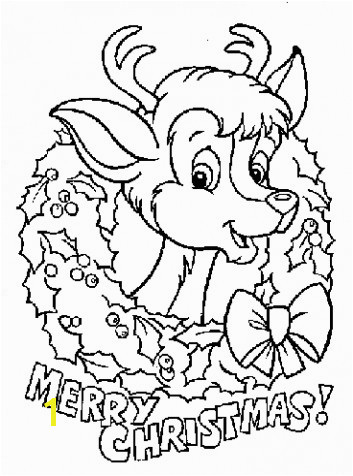 Santa Claus And Reindeer Coloring Pages Christmas reindeer coloring pages