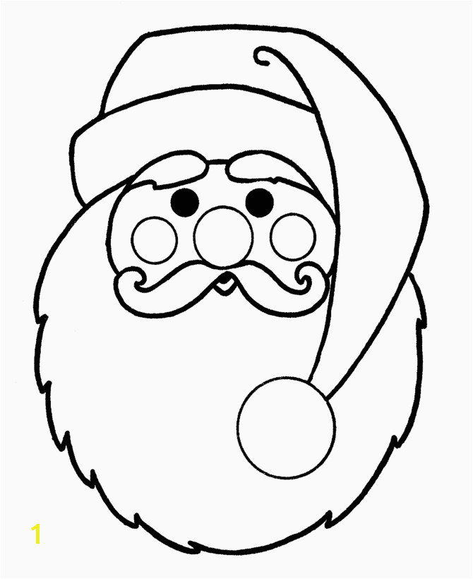 Learning Years Christmas Coloring Pages Big Santa Face