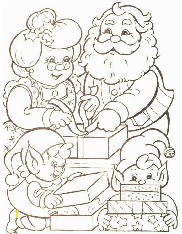 Families Mr Santa Claus Christmas Coloring Pages Printable