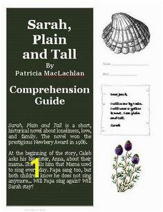 Sarah Plain and Tall Novel Unit