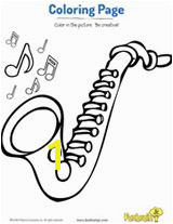 Saxophone Coloring Page musicalinstruments Number Worksheets Music Alphabet Activities Saxophone