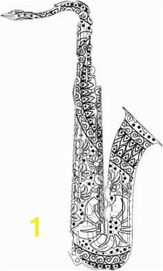 Adult Coloring Pages Saxophone For the best coloring books and supplies