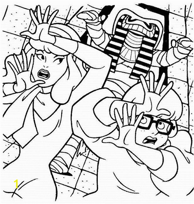 scooby doo mummy coloring pages