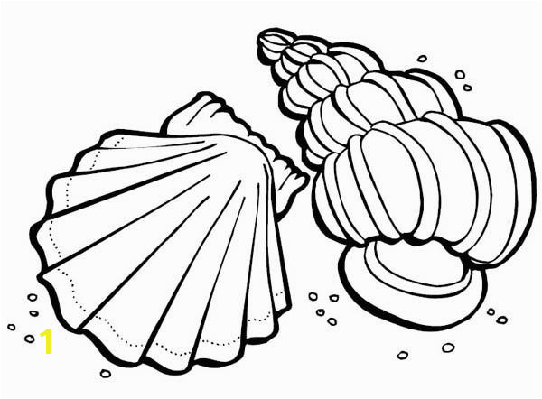 Sea Animals Coloring Pages Sea Animals Two Sea Shells – Sea Animals Coloring Page Two Sea zentangle Pinterest