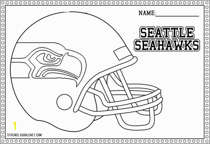 Seahawks Coloring Pages Seattle Related Post