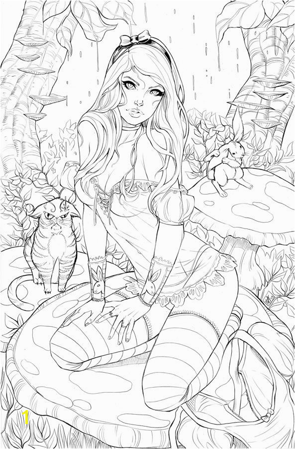 Elite Alice BW by ToolKittenviantart on deviantART Coloring Pages To Print