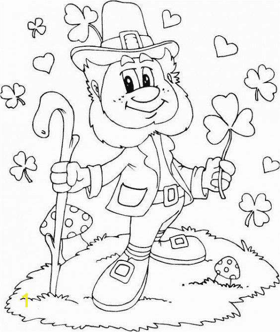 Coloring Full Page Coloring Pages To Print Superb Shamrock Leprechaun I Pinimg 736x 0d 0d
