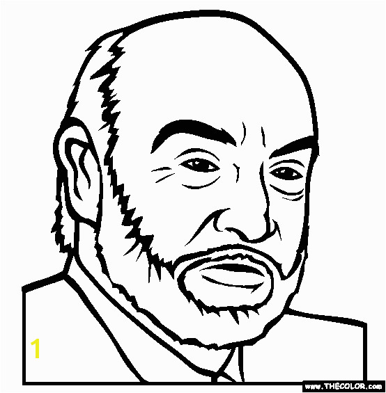 Sean Connery Coloring Page