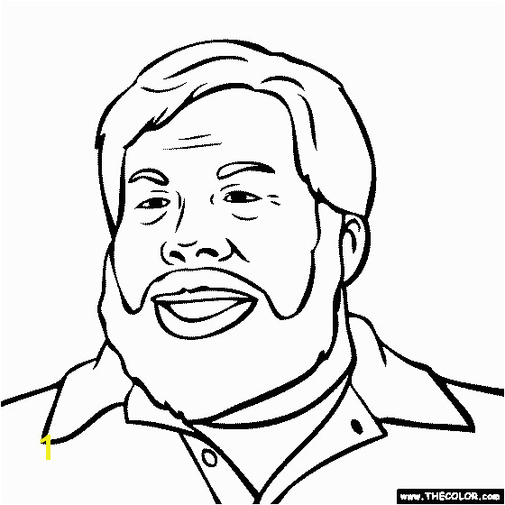 Steve Wozniak Coloring Page