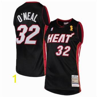 Men s Miami Heat Shaquille O Neal Mitchell & Ness Black 2005 06 Hardwood Classics