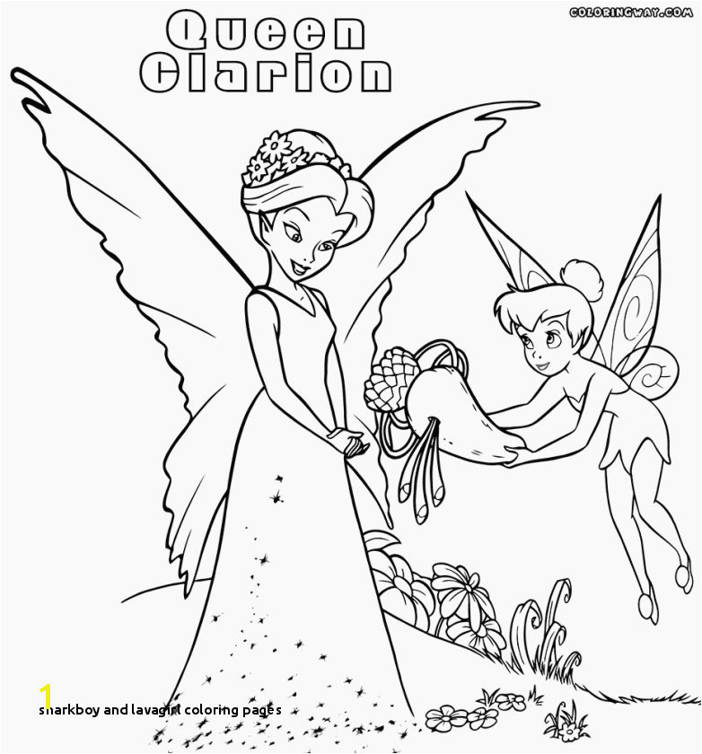 Beautiful Sharkboy and Lavagirl Coloring Pages to Print