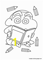Free Shin Chan coloring book pages you can print and color