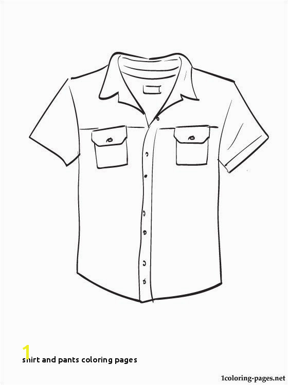 Shirt and Pants Coloring Pages Kleidung Coloring Pages 5IVETACOS