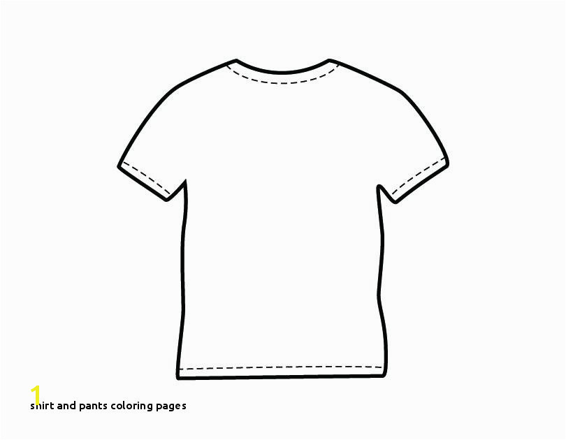 Shirt and Pants Coloring Pages 22 Shirt and Pants Coloring Pages