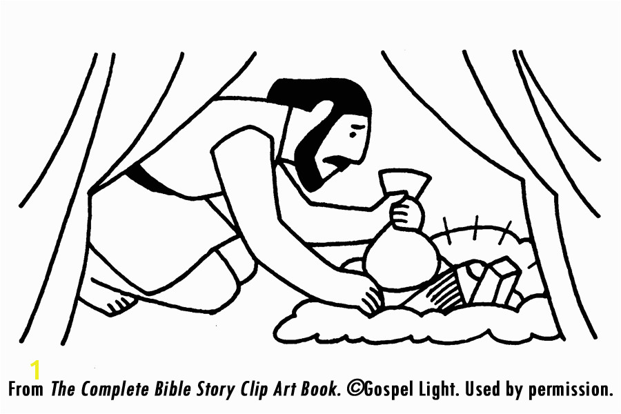 Sin Of Achan Coloring Pages Scripture Reference Joshua 7 1 8 1 Story Overview because Joshua
