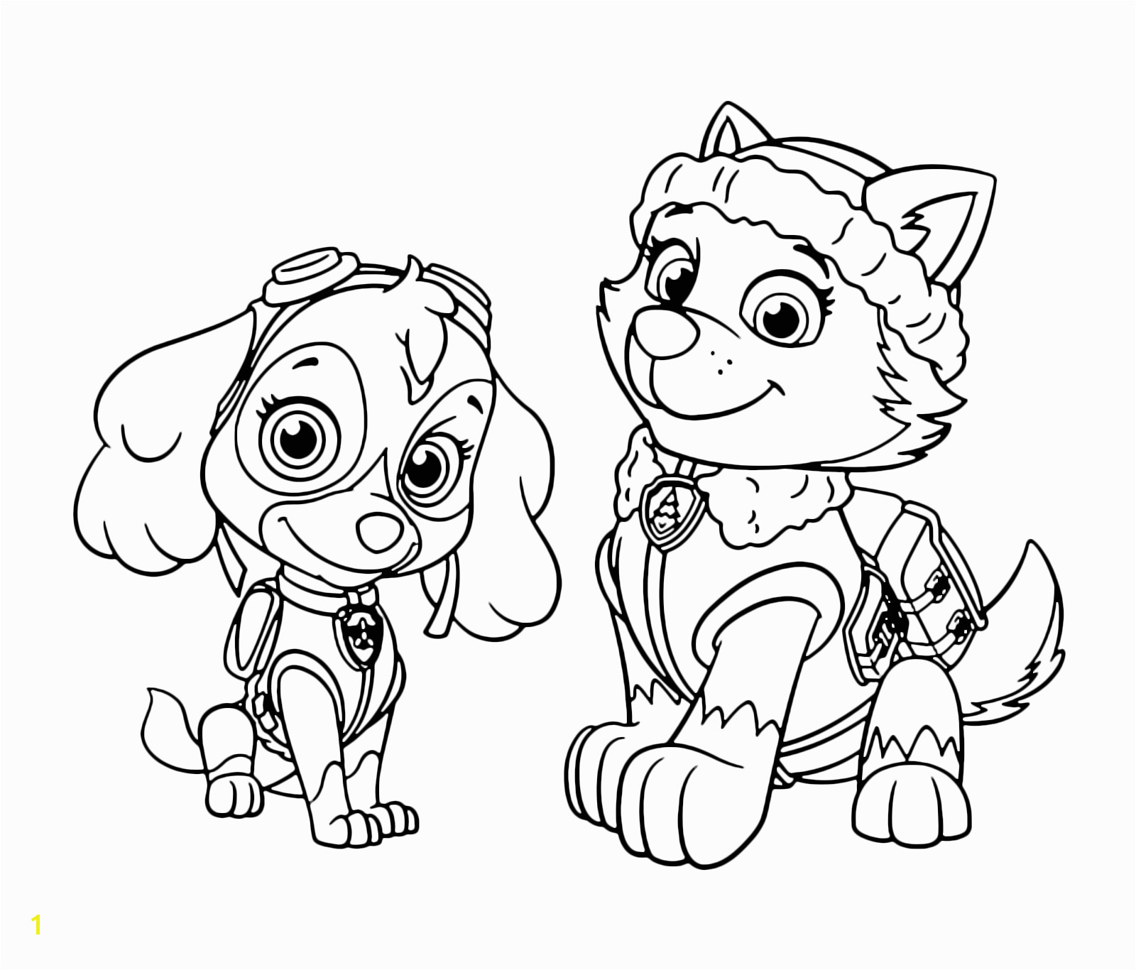 Skye Paw Patrol Coloring Pages To Print Free Books Throughout