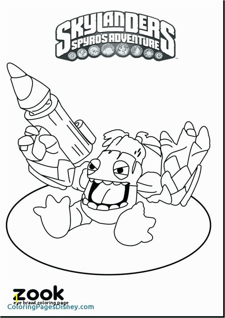 Skylander Zook Coloring Page Eye Brawl Coloring Page Skylanders Giants Coloring Pages Eye Brawl