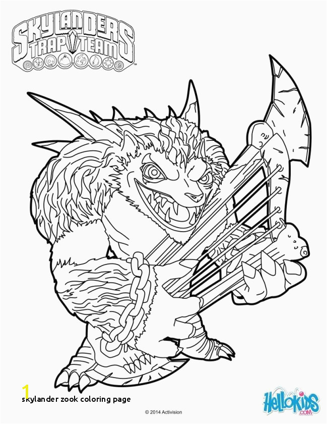 Skylanders to Color Fresh 22 Skylander Zook Coloring Page