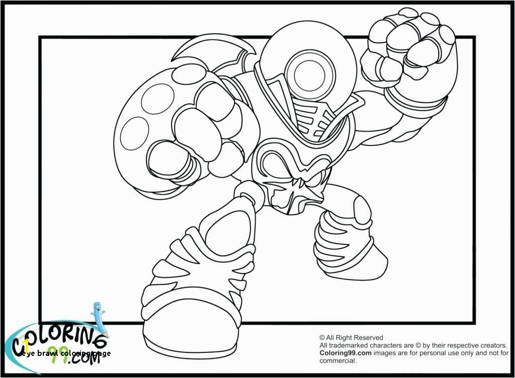 Eye Brawl Coloring Page Skylanders Giants Coloring Pages Eye Brawl Page Download Colouring