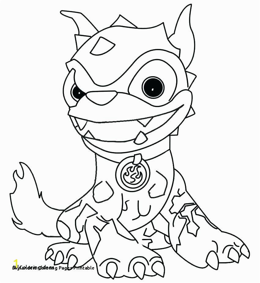 Skylanders Coloring Pages Printable Skylanders Giants Coloring Pages Lovely Crusher Luxury Hot Dog Color