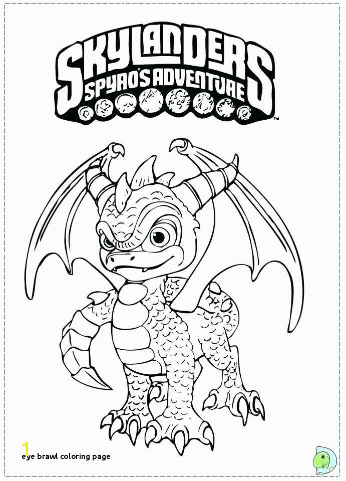 Eye Brawl Coloring Page Skylander Coloring Page with O D Colouring Pages Adventure Trap Team