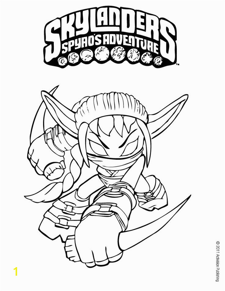 Art Skylanders coloring pages for the kids