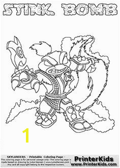 Skylanders Swap Force STINK BOMB Coloring Page 2