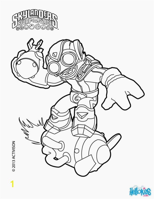 Elegant Skylanders Swap force Coloring Pages Stink Bomb Pics